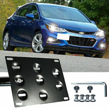 Bumper Tow Hook License Plate Mount Bracket Relocate for Chevy Cruze 2017 2018