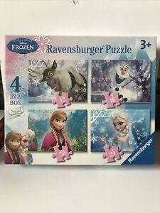 Disney Frozen Jigsaw x 4 Ravensburger 12 16 20 & 24 Pieces 3+ Elsa Anna Olaf