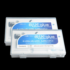 2xDental Ortho Adhesive Light Cure  Band Cement Resin Syringe Blue Glue Bravo CA