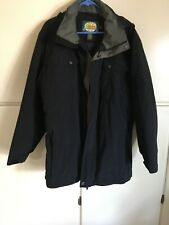 Gore-Tex Cabelas Sz Large Insulated Hunting / Sportsman Coat Black W Gray~hooded