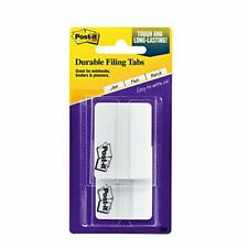 Post It Tabs 2 In Solid White Durable Writable Repositionable Great For