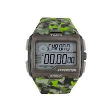 Orologio Uomo TIMEX GRID SHOCK TW4B07200 Silicone Camouflage Verde Sub 100mt