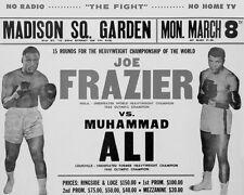 MUHAMMAD ALI - JOE FRAZIER MADISON SQUARE 1971 FIGHT POSTER BOXING 8X10 PHOTO