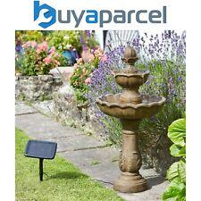 Smart garden Solaire Kingsbury 3 Étages Jardin Eau Fonction Fontaine Bain Oiseau