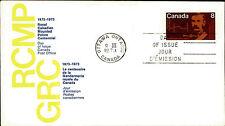 Kanada Day of Issue Cover Brief Briefmarke 1973 Gendarmerie Royale du Canada FDC