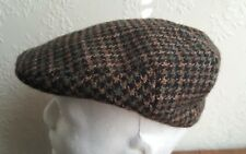 Welsh Cambrian Houndstooth 100% Wool flat cap size 56cm
