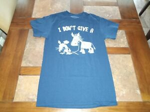 Small Navy Blue Short Sleeve I DON'T GIVE A RATS ASS, Novelty, Humor T-Shirt.