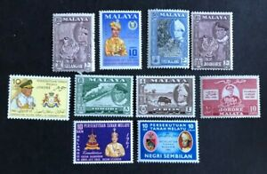 Malaya and States - Small selection Mlnt Hinged