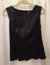 Halogen Peplum Blouse With Leather Detail