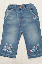 Denim Jeans Floral Trousers & Shorts (0-24 Months) for Girls