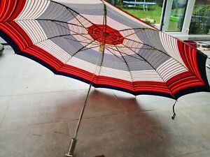 Kobold Regenschirm Taschenschirm Knirps Rot Vintage Mid century