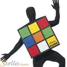 Adult Rubiks Cube Fancy Dress 1980s Retro Costume Mens Ladies 80s Outfit