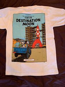 TinTin mens T-shirt size Medium color white