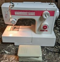White Model 1620 Sewing Machine Vintage Tested Working