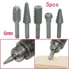 New 5Pcs/Set 6mm Drills Bits Wood Carving Micro Cutter Rotary Burr Dremel Tools
