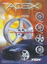 "TSW ""Introducing Apex"" Wheels 2003 Magazine Advert #180"