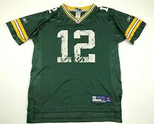 Reebok Aaron Rodgers Green Bay Packers Football Jersey Youth Size Extra Large XL