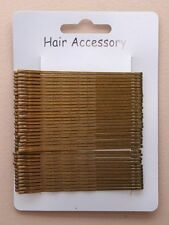 36 GRIPS KIRBY brown PINS 6301 HAIRDRESSING HAIR CLIPS SLIDES BOBBY SCHOOL DANCE