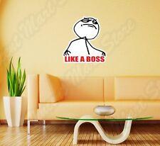 "Internet Troll Trolling Like A Boss Wall Sticker Room Interior Decor 20""X25"""