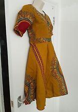 Dashiki Tribal Print Cotton Dress Size M; FREE UK P&P