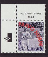 Finland 1997 MNH - Paavo Nurmi  - Olympic Games Hero - corner stamp of sheet