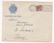 1940 SWITZERLAND Cover FRIBOURG SG372A School Commission GILLAND Commercial