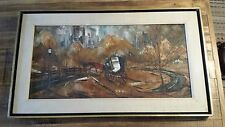 Robert Lebron Painting - Signed - Horse & Carriage in Central Park, NYC
