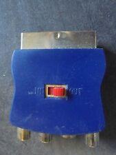BULK POWER BRIGHT PB-1360 Scart Adapter 3 RCA Jacks w/ S-video 21-pin  Gold Pl