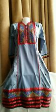 Absolutely Gorgeous Ladies Soft Cotton Heavily  Embroidered Kurta dress uk 10