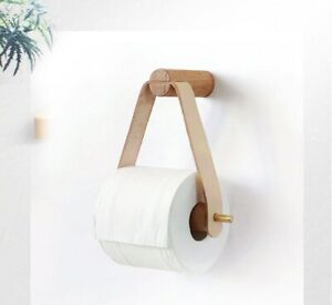 Toilettenpapierhalter bohren mit Ablage Klopapierhalter Klorollenhalter holz