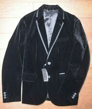 Armani Exchange A|X $230 Men's Two Button Black Velvet Blazer Sport Coat 40