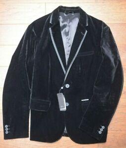 Armani Exchange A|X $230 Men's Two Button Black Velvet Sport Coat Blazer 36