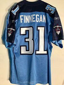 Reebok Authentic NFL Jersey Titans Cortland Finnegan Blue Alternate sz 52