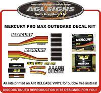 MERCURY Pro MAX Racing Decal Kit  reproductions  PROMAX