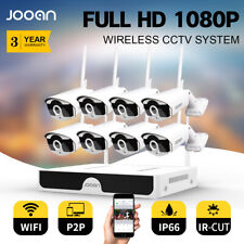 Wireless Security Camera System 8CH HD WiFi 1080P NVR Home Outdoor Night Vision