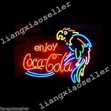 New Enjoy Coke Cola Soda Drink Parrot Beer Bar Real Neon Light Sign Free Ship