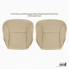 Driver and Passenger Bottom Tan Leather Cover For 2005 2006 Lexus ES300 ES330