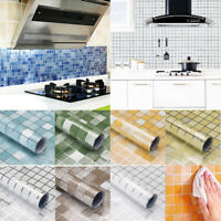 1PC Aluminum Foil Self-adhesive Kitchen Home Wall Sticker Ceramic Oil-proof Tile