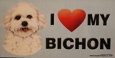 Bichon Magnet Dog Display Anywhere Car Refrigerator Work File Cabinet