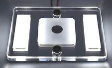 Caravan Glass Ceiling 12V SmL Rectangle Dimmable Touch light WHITE Night Light
