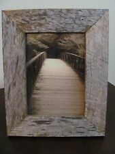 5x7 Vertical Sepia Photo in Rustic Wood Frame ~ Bridge