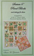 """Sixteen 6"""" Pieced Blocks and Settings Sue Garmen Come Quilt Pattern Set"""