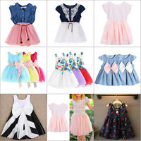 Flower Girls Princess Dress Kids Baby Party Wedding Pageant Formal Tulle Dresses