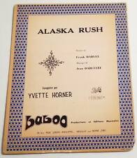 Partition vintage sheet music YVETTE HORNER : Alaska Rush * Accordéon