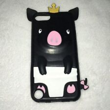 Silicone iPod Touch 5th Generation Case Black Queen Pig Diaper Animal Animated