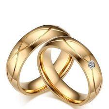2  Eheringe Trauringe Verlobungsringe Trau Freundschaftsringe Edelstahl Gold