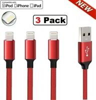 3Pack 6FT USB Cable For iPhone 6 7 8 Plus iPhone 12 11 X XR XS Pro Charger Cord