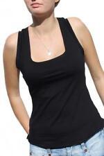 Hüftlange Damenblusen, - tops & -shirts im Rockabilly-Trägertops-Motiv