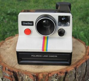 Vintage Iconic POLAROID Instant One Step Land Camera Rainbow Stripe