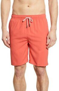 Peter Millar Men's Lava Coral Orange Merky Waters Swim Shorts